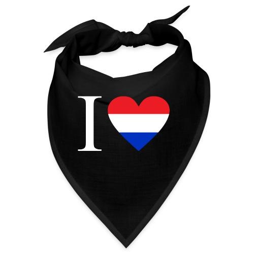 Ik hou van Nederland | Hart met rood wit blauw - Bandana