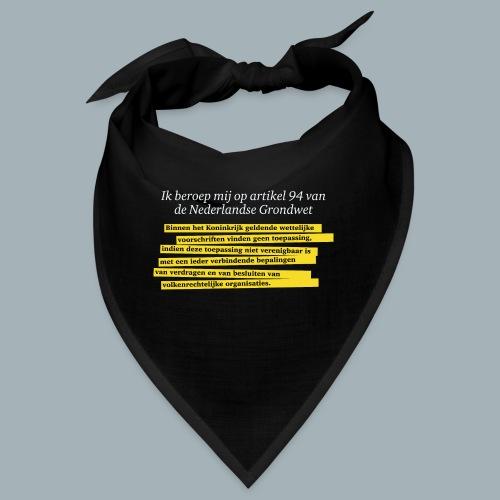 Nederlandse Grondwet T-Shirt - Artikel 94 - Bandana
