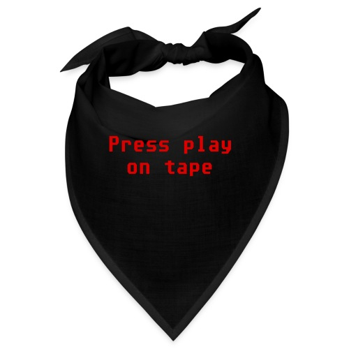 press play on tape rosso double - Bandana