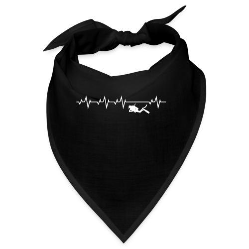 Herzschlag Taucher Scuba Diving Tauchen Shirt Gesc - Bandana