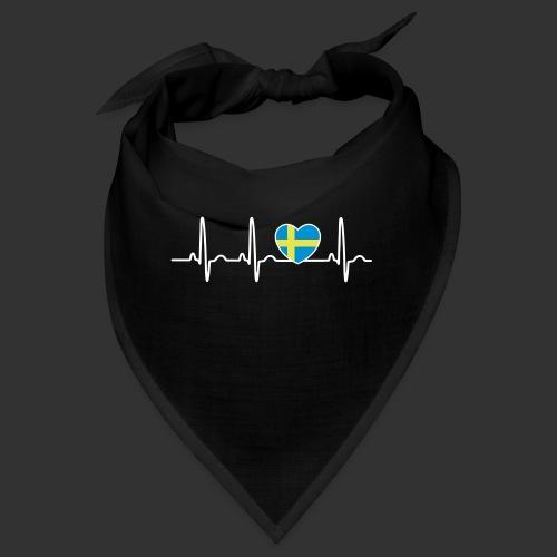 EKG hjärta Sverigeflagga - Snusnäsduk