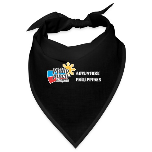 Philippinen-Blog Logo english schwarz/weiss - Bandana
