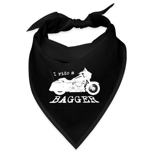 I ride a bagger - hvid - Bandana