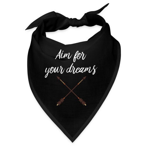 Aim for your Dreams white - Bandana