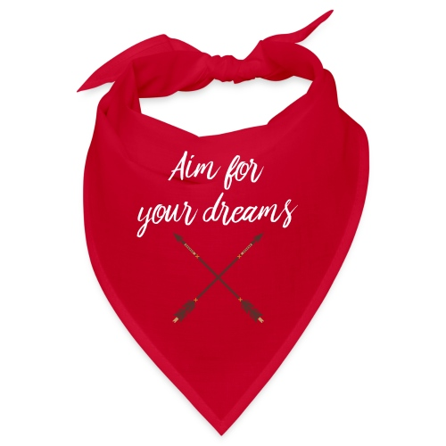 Aim for your Dreams white - Bandana