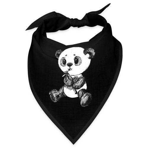Panda Bär weiß scribblesirii - Bandana