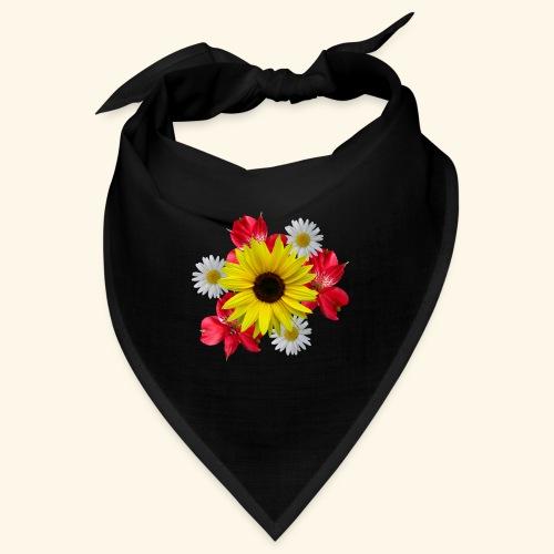 Blumenstrauß, Sonnenblume, Margeriten, rote Blumen - Bandana