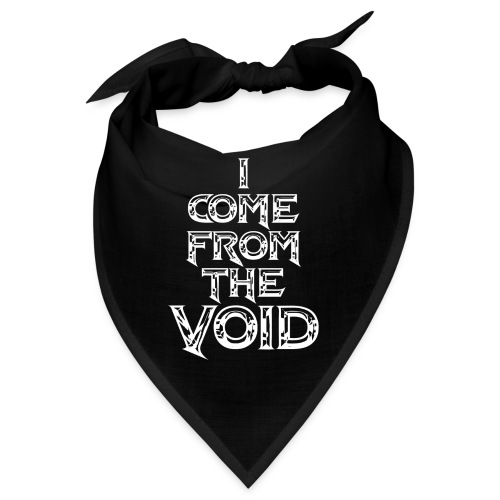 I Come From The Void White - Bandana