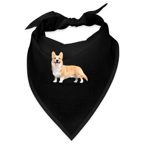 Topi the Corgi - Black text - Bandana