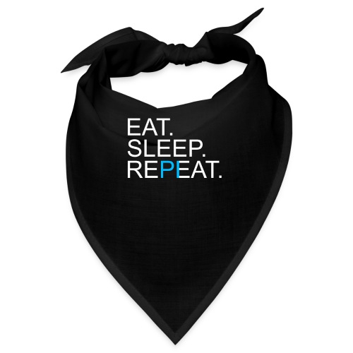 Eat Sleep Repeat PI Mathe Dunkel - Bandana