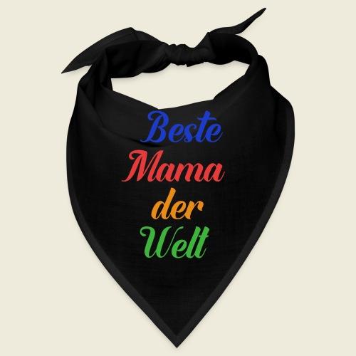 Beste Mama der Welt schön bunt - Bandana