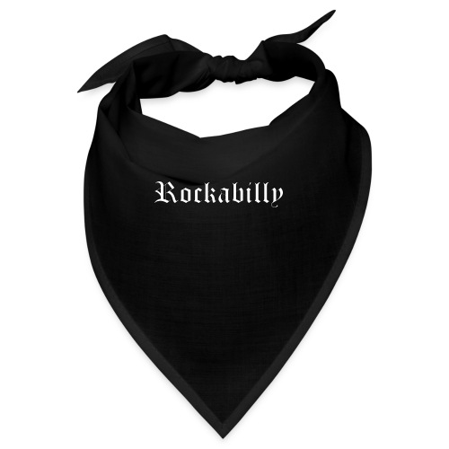 rockabilly blanc contour noir - Bandana