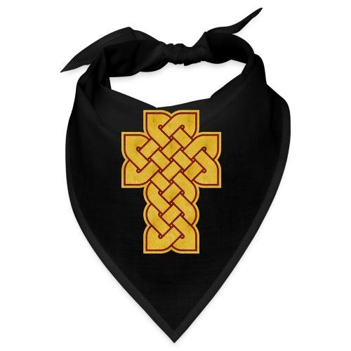 Celtic Cross - Gold on Red - Bandana