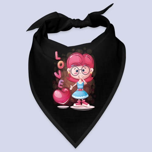 Funny and lovely girl cartoon design - Bandana