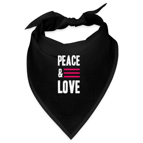 Peace and Love - Bandana