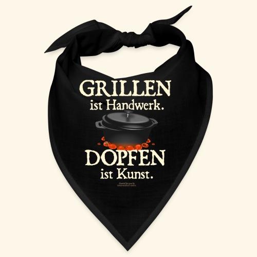 Dutch Oven T-Shirt Grillen Handwerk Dopfen Kunst - Bandana