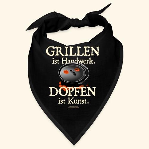 Grillen Handwerk, Dopfen Kunst Dutch Oven T-Shirt - Bandana