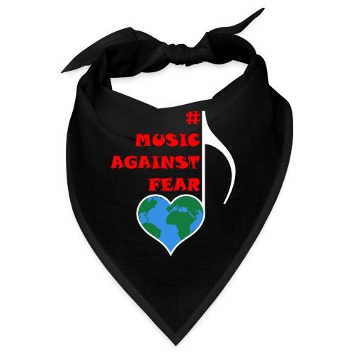 #MusicAgainstFear - Weiß - Bandana
