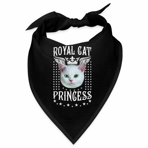 26 Royal Cat Princess white feine weiße Katze - Bandana