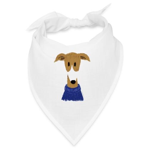 Windhund in blauem Pulli - Bandana