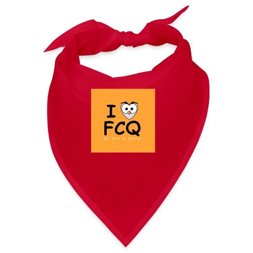 I Love FCQ button orange - Bandana