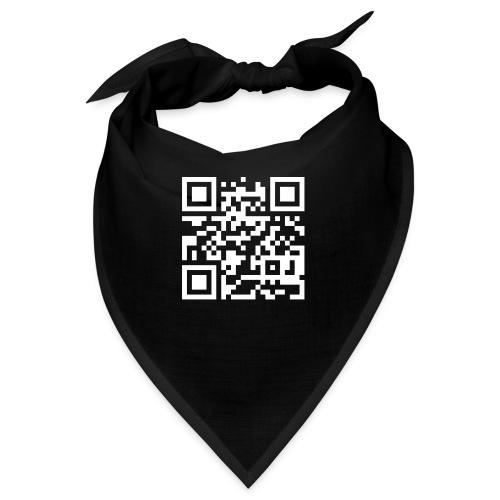 QR Barcode - met je eigen tekst - Bandana