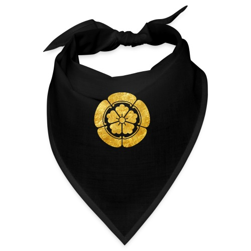 Oda Mon Japanese samurai clan faux gold on black - Bandana