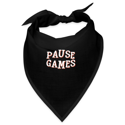 Pause Games Text - Bandana