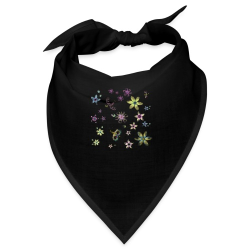flowers and butterflies - Bandana