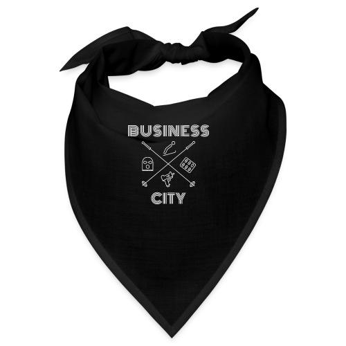 Business City - valkoinen painatus - Bandana
