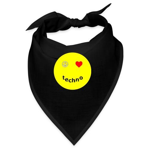 camiseta paz amor techno - Bandana