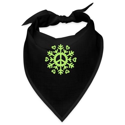Peace & Love Snowflake - Bandana