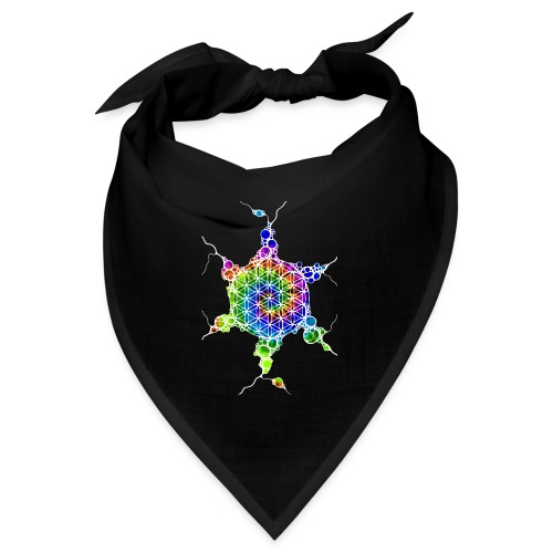 Flower Of Life Neuro Art 4 - Bandana