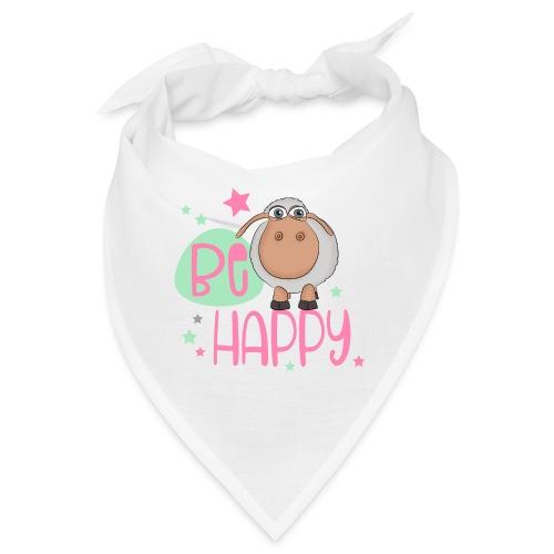 Be happy Schaf - Glückliches Schaf - Glücksschaf - Bandana