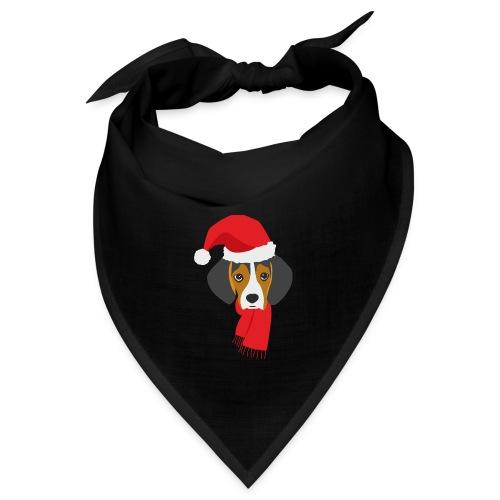 Cachorro de beagle vestido de Papa Noel - Bandana