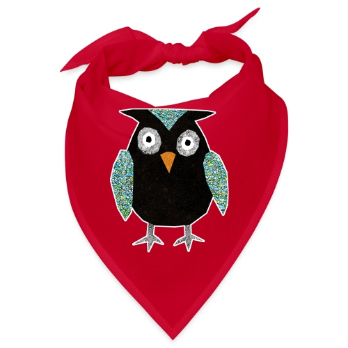 Collage mosaic owl - Bandana