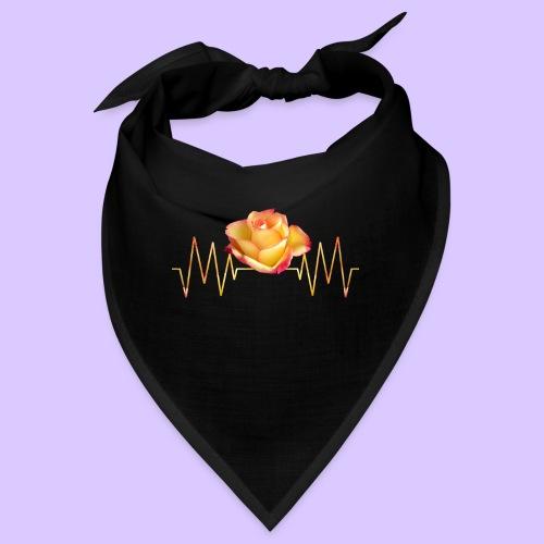 Rose, Herzschlag, Rosen, Blume, Herz, Frequenz - Bandana
