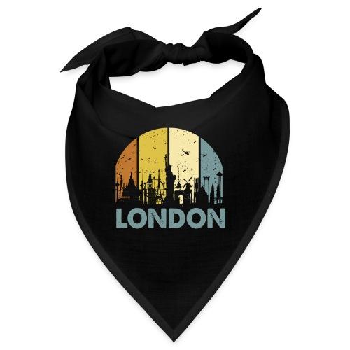 Vintage London Souvenir - Retro Skyline London - Bandana