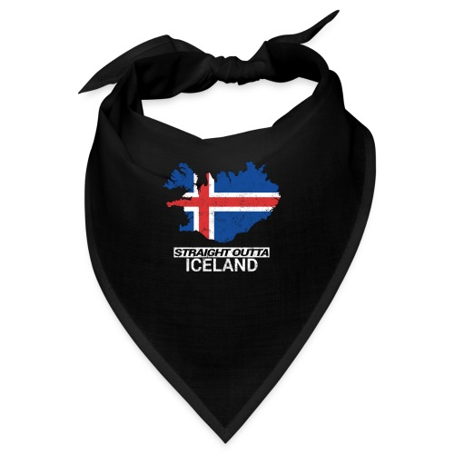 Straight Outta Iceland country map - Bandana