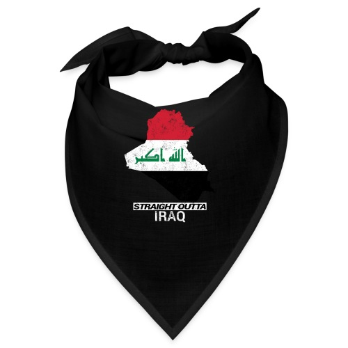 Straight Outta Iraq country map & flag - Bandana