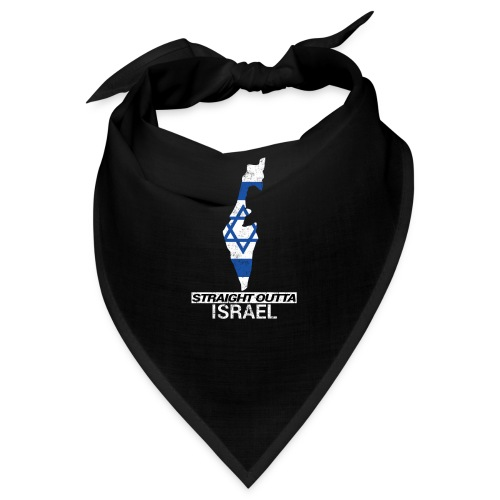 Straight Outta Israel country map & flag - Bandana