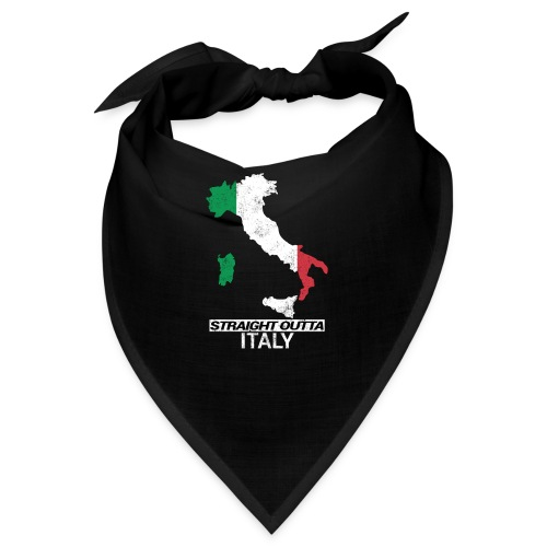 Straight Outta Italy (Italia) country map flag - Bandana