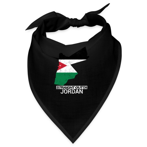 Straight Outta Jordan country map - Bandana