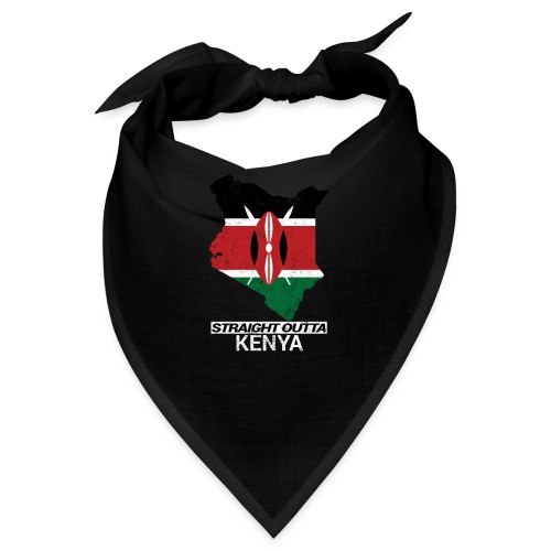 Straight Outta Kenya country map & flag - Bandana