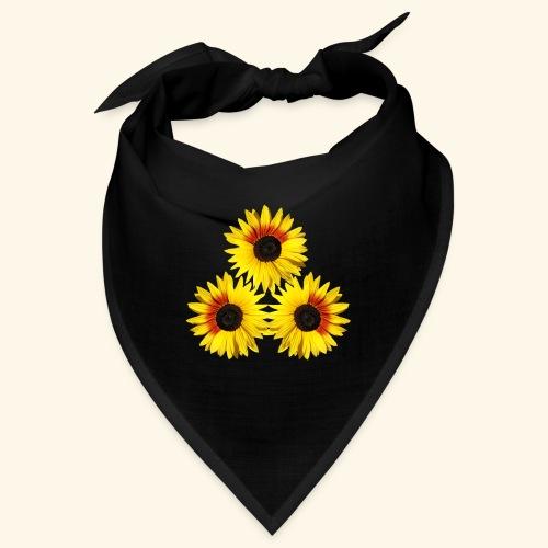 Sonnenblumen gelb, rot, Sonnenblumenfeld, Blumen - Bandana