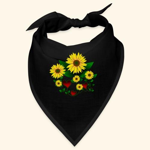 Sonnenblumen, Herzen, Blumen, floral, Herz, Blüten - Bandana