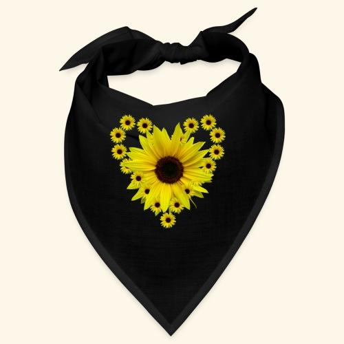 Sonnenblumenherz, Sonnenblume, Sonnenblumen, Herz - Bandana