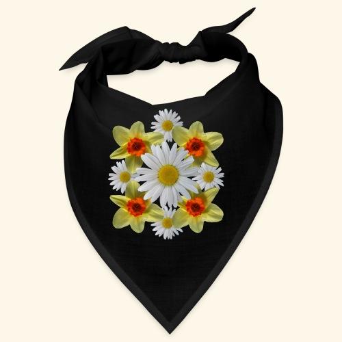 Narzissen Margeriten Osterglocken Blumen Blüten - Bandana