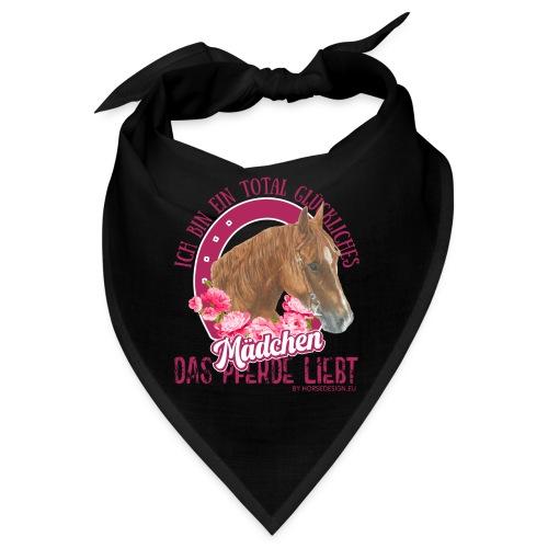 Glückliches Pferdemädchen - Bandana