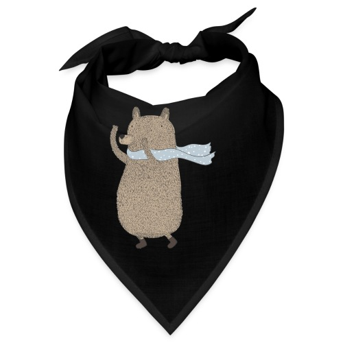 Fluffy Cuddle Bear by #OneCreativeArts - Bandana